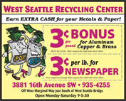 Recycling Coupon / We Pay More