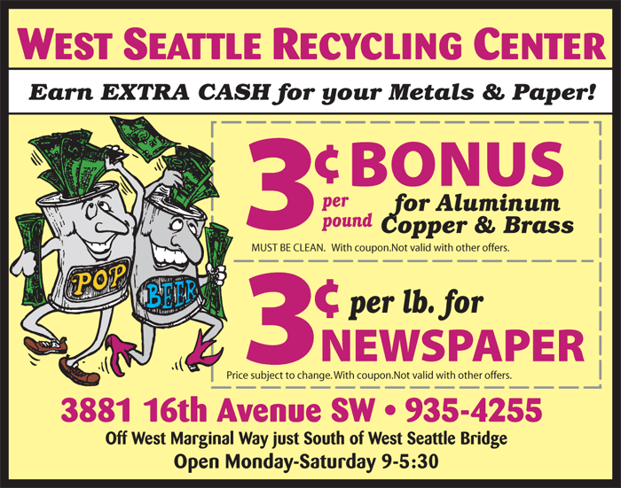 Recycling Coupon at West Seattle Recycling